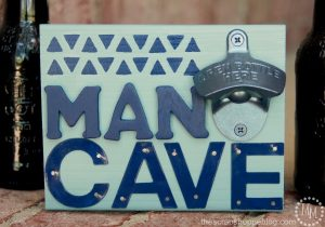 Man Cave Sign with Bottle Opener