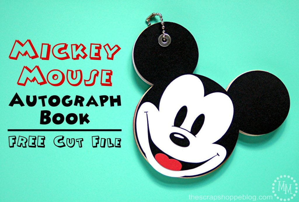 Create this cute Mickey Mouse autograph book for your next trip to Disney!
