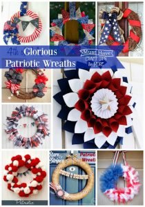 Get your house ready for Memorial Day, July 4th, and Labor Day with a gorgeous DIY patriotic wreath!