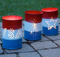 Show your patriotic side outdoors with some fun red, white, and blue DIY projects!