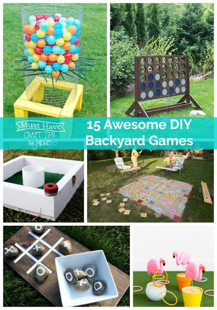 Take the game playing outdoors with these fun DIY Backyard Games!