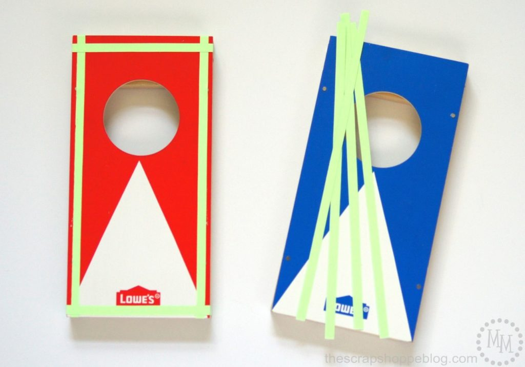 Make this mini kids' cornhole game even more fun with glow in the dark vinyl!