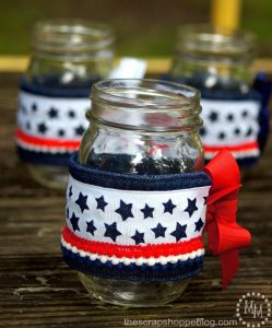 Patriotic Mason Jar Cozies