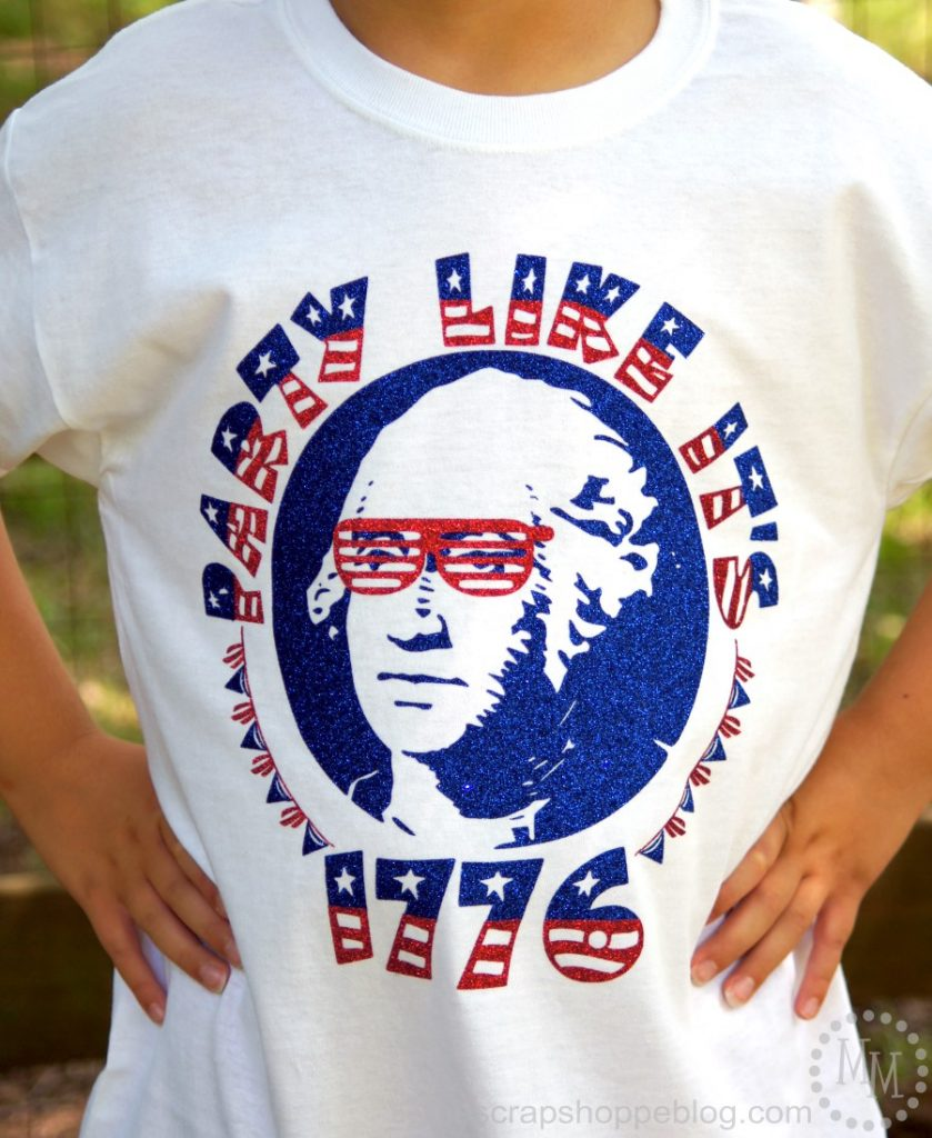 Party like it's 1776 with George Washington himself with this fun FREE Silhouette cut file!