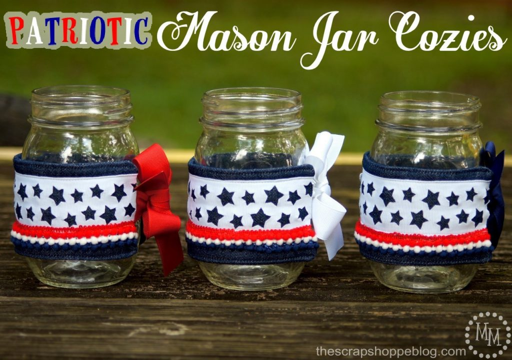 DIY Patriotic Mason Jar Cozies - perfect for summer barbecues!