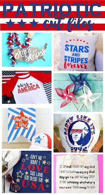 FREE patriotic cut files!