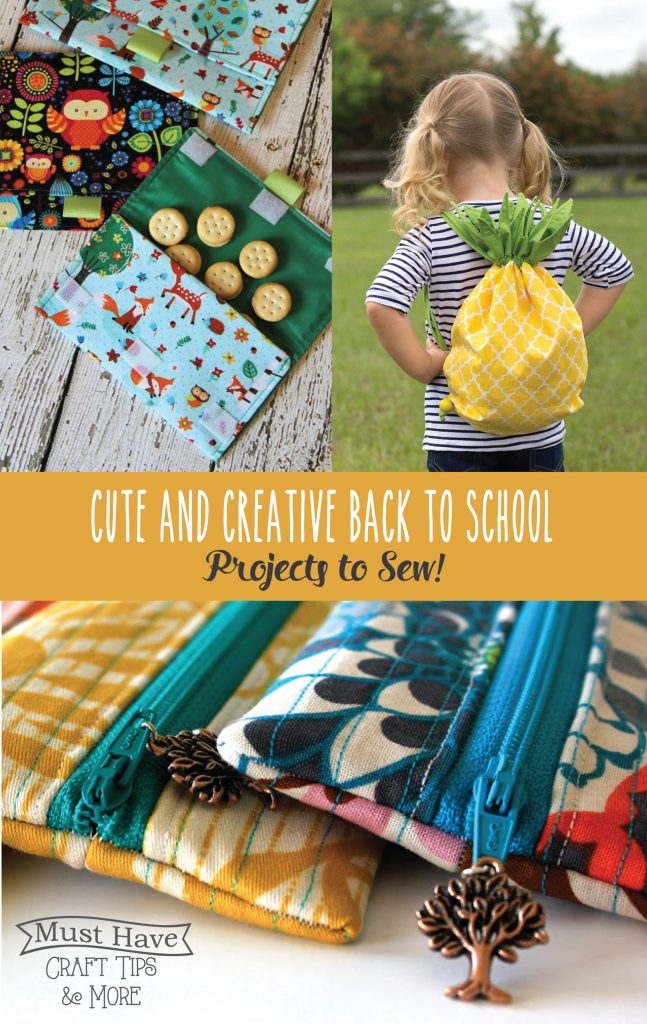 Save some money on back to school supplies by sewing your own!