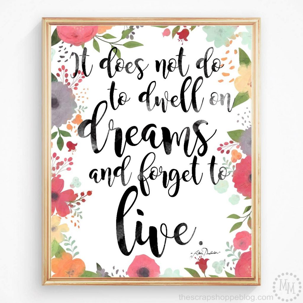 Turn your favorite quotes from the Harry Potter series into gorgeous, trendy wall art with these 4 FREE watercolor prints!