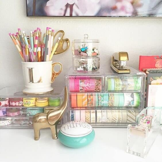 creative desk organization ideas - the scrap shoppe