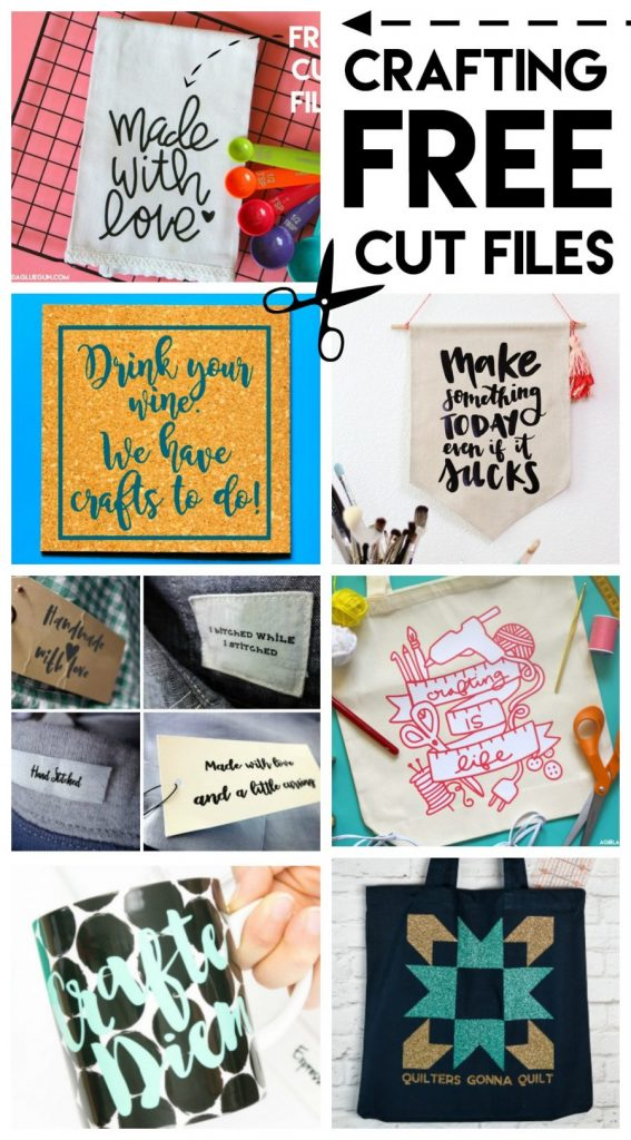 FREE crafty-themed cut files - they are great for decorating your craft space or gifting to a friend!