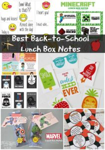 The BEST Back to School Lunch Box Notes