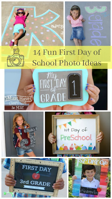 Take a fun photo to memoralize the first day back to school! These are some fun ideas to try.