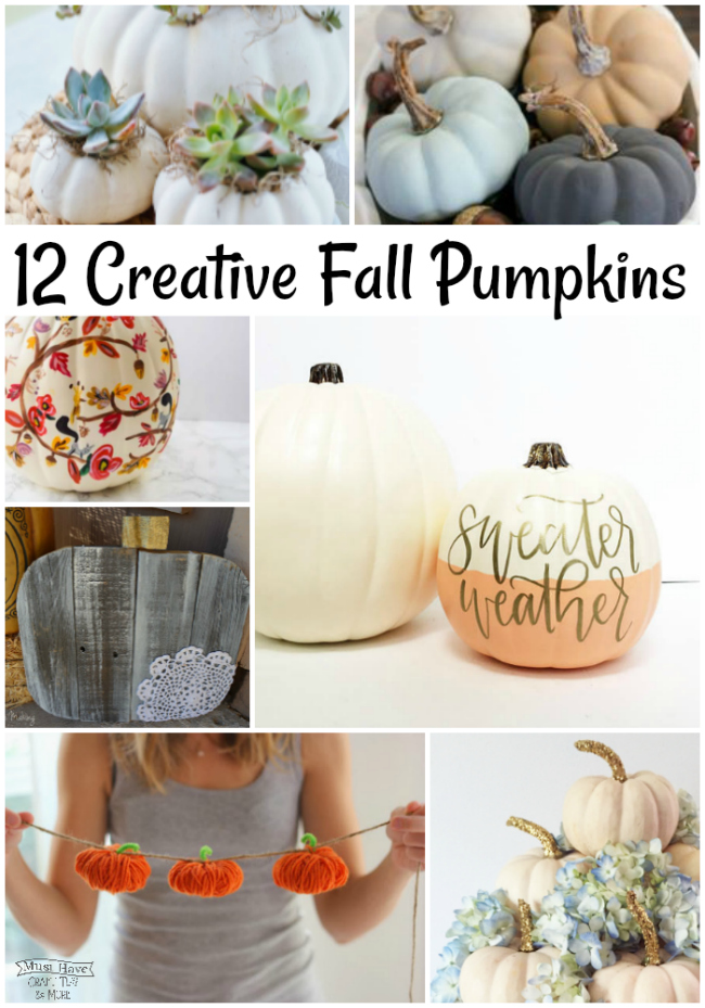 Dress up your home this fall with faux pumpkins! Don't miss these creative fall pumpkin ideas.