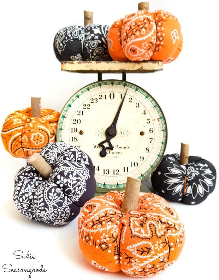 fabric bandana pumpkins