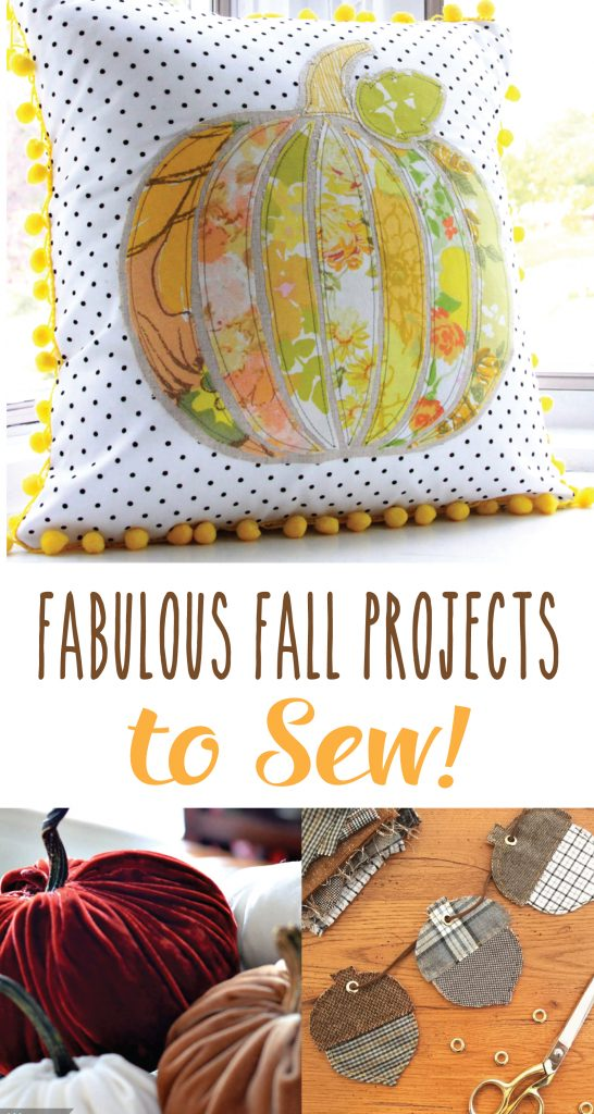 Sew up some fun fall crafts to decorate your home!
