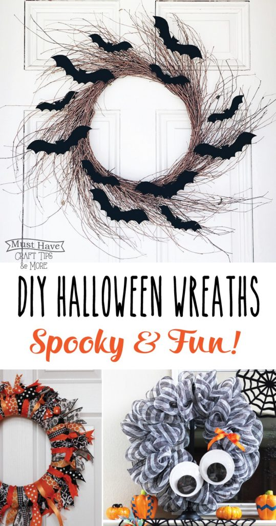 Spooky and fun DIY Halloween wreaths