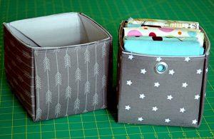 DIY Fabric Storage Bins