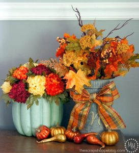 Fall Farmhouse-Style Vignette