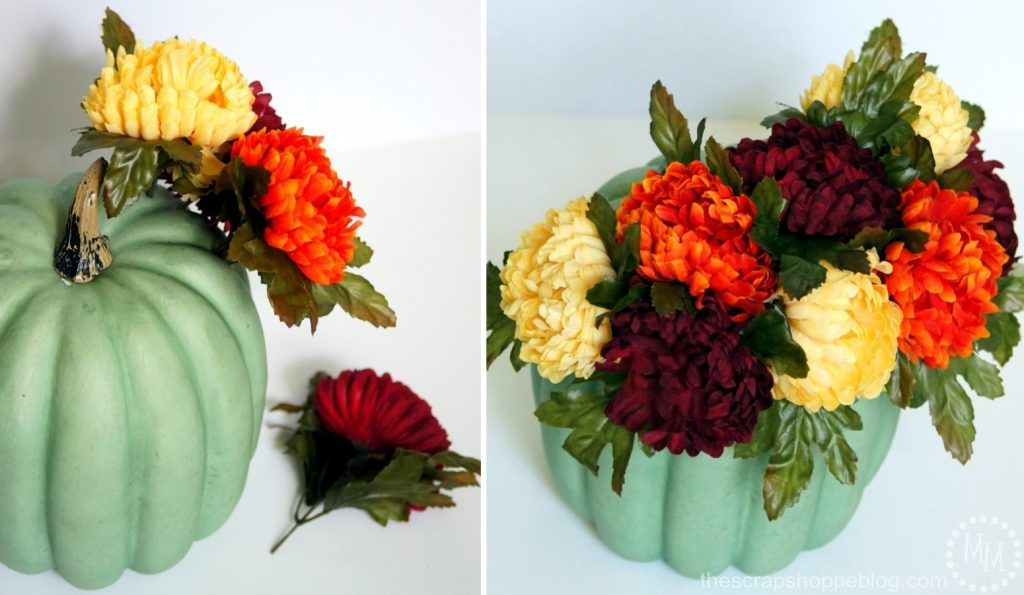 Create an easy fall farmhouse-style vignette in minutes!