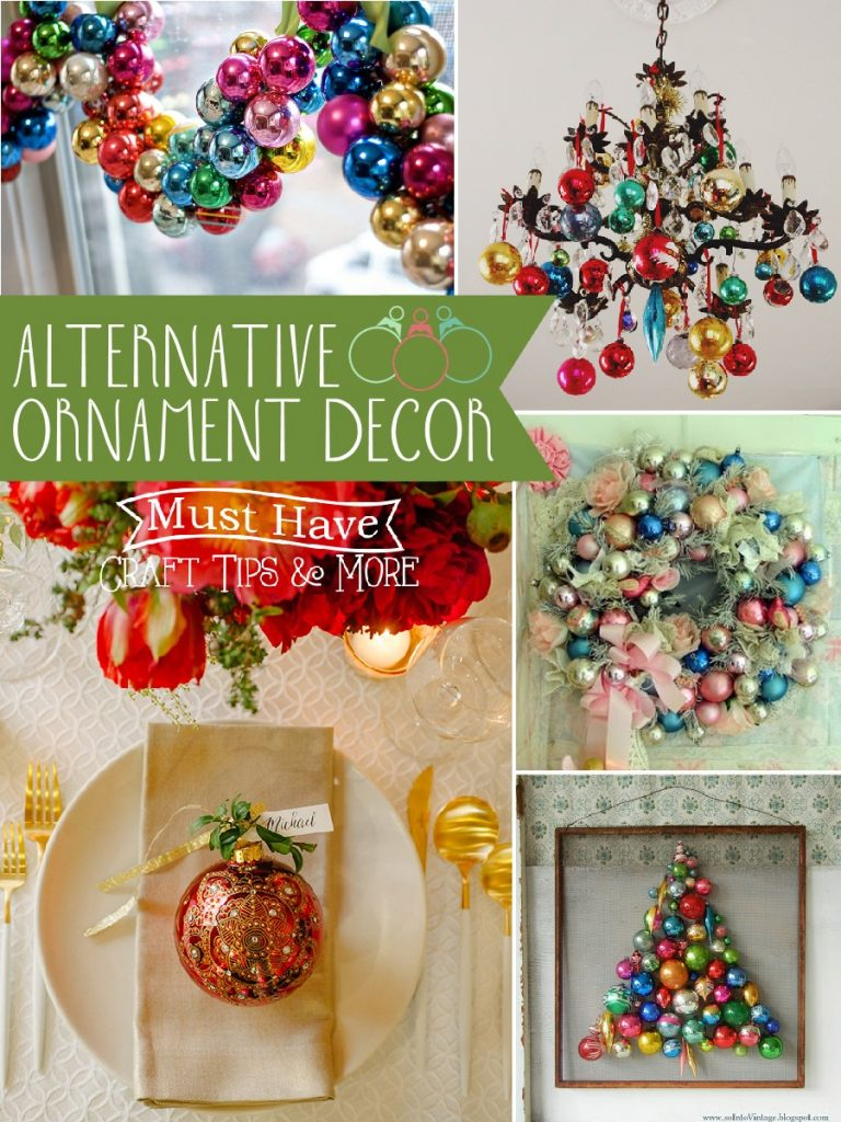 Ornament hoarder? Me, too! Try these alternative ornament decor options OTHER than putting them on your tree!