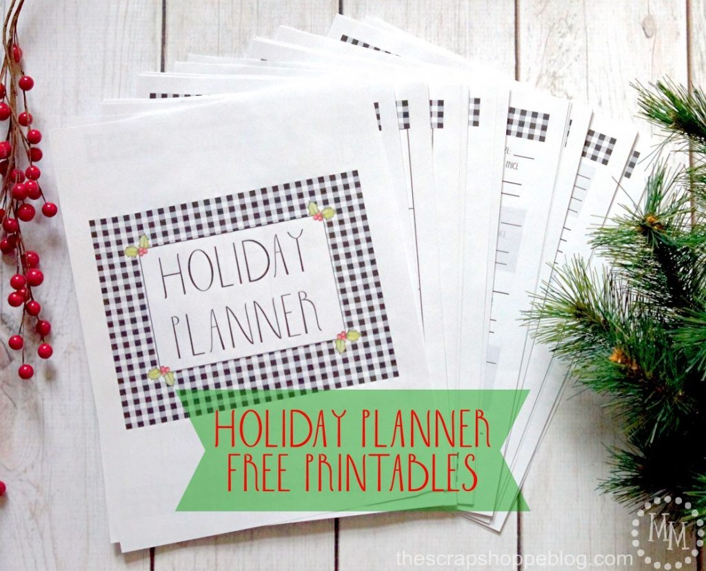Stay organized this holiday season by creating and using a holiday planner using these FREE printables with a cute buffalo check pattern!