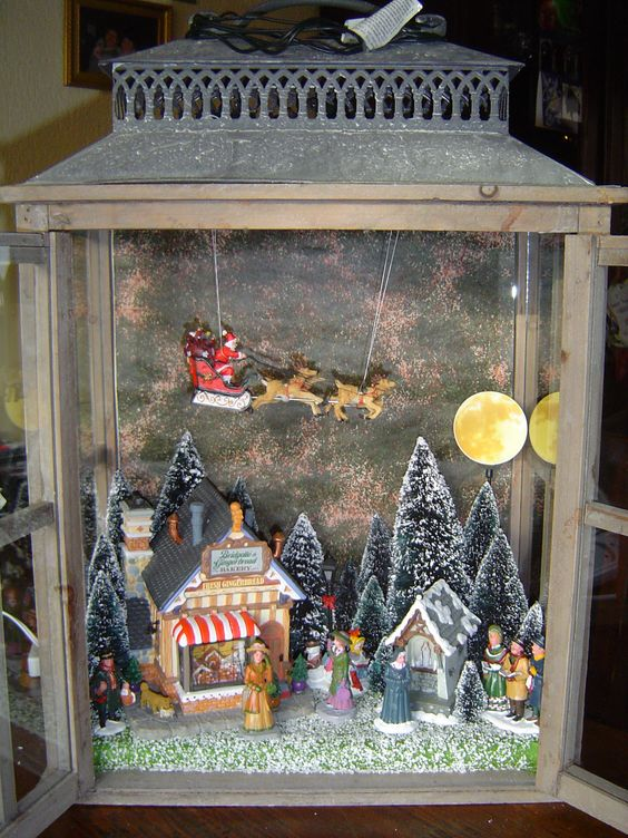 A Christmas Village is a fun way to decorate for the holidays! And they come in all shapes and sizes.