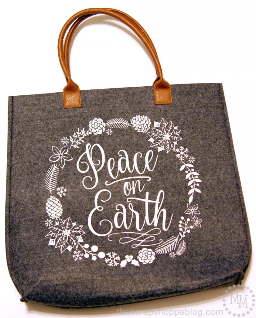 This FREE Peace on Earth SVG file looks adorable on just about anything and would be a great gift!