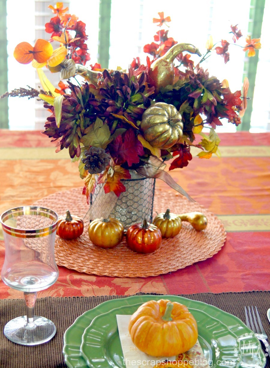 Fall table decorating ideas the scrap shoppe