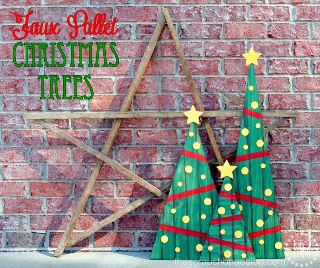 use stain to create the look of pallets on regular wood these stained christmas trees