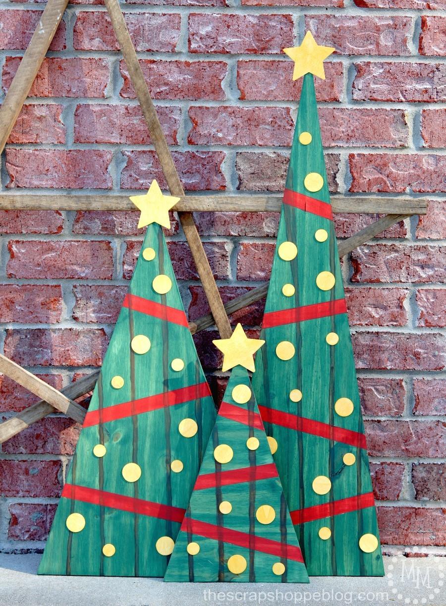 Faux Pallet Christmas Trees - The Scrap Shoppe