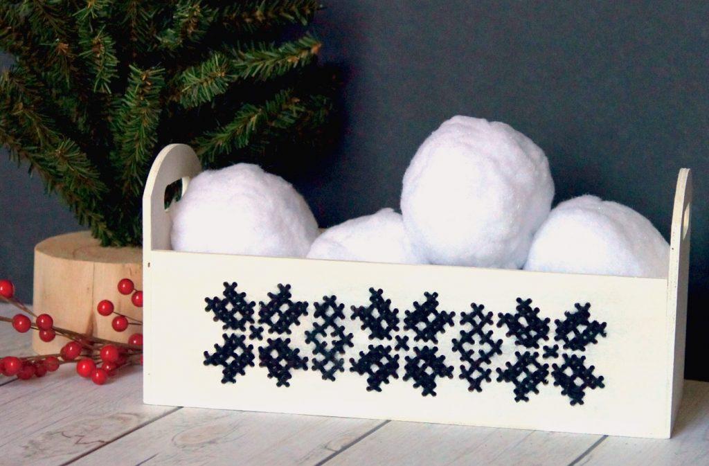 cross-stitch planter box