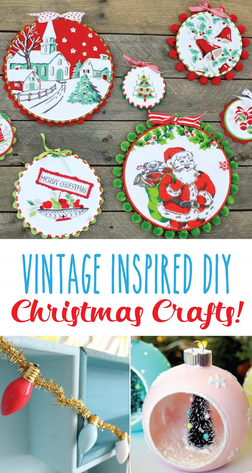 vintage style christmas tree baubles