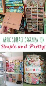 Simple & Pretty Fabric Storage & Organization