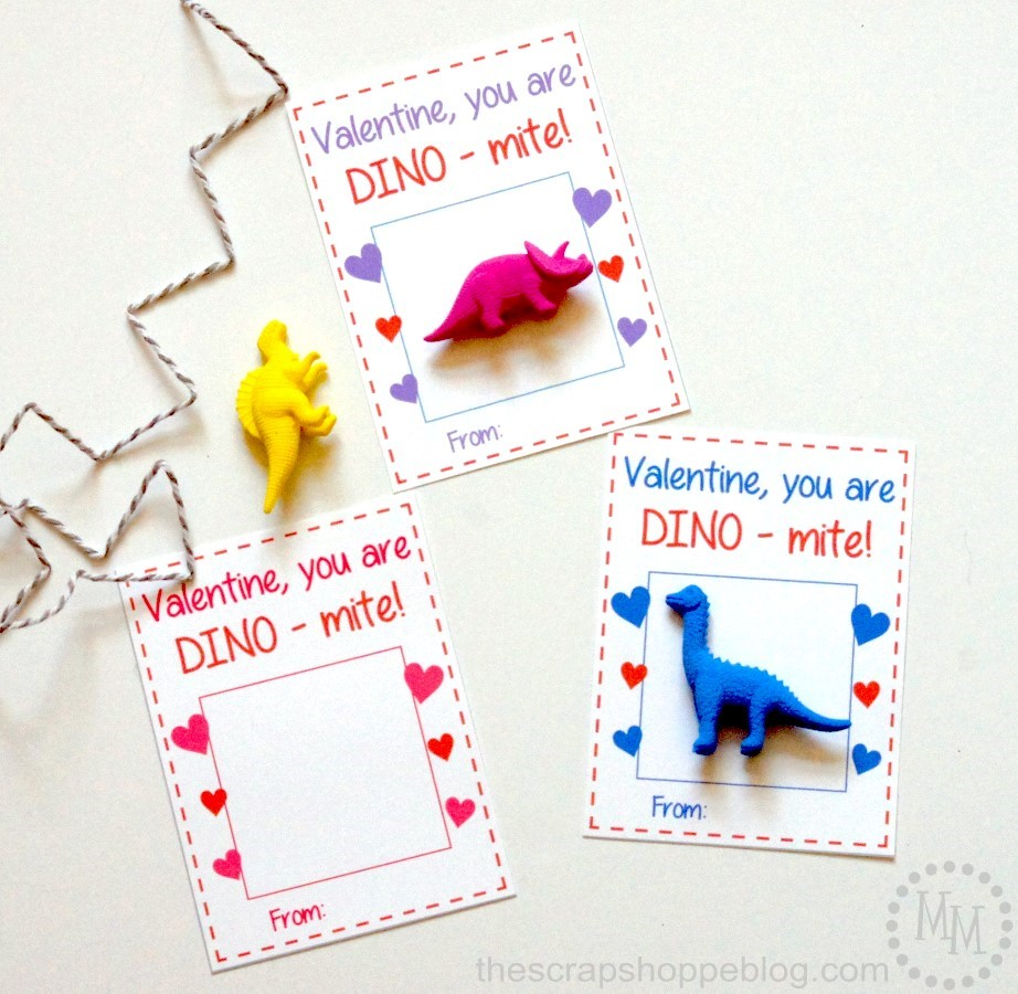 Print these dinosaur valentines just add a little toy dinosaur or dinosaur sticker!