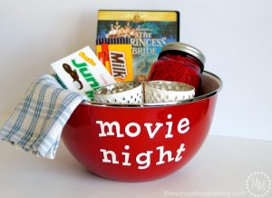 Put together a quick and simple gift for a date night in!