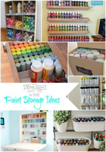 Get your paint organized with these great ideas!