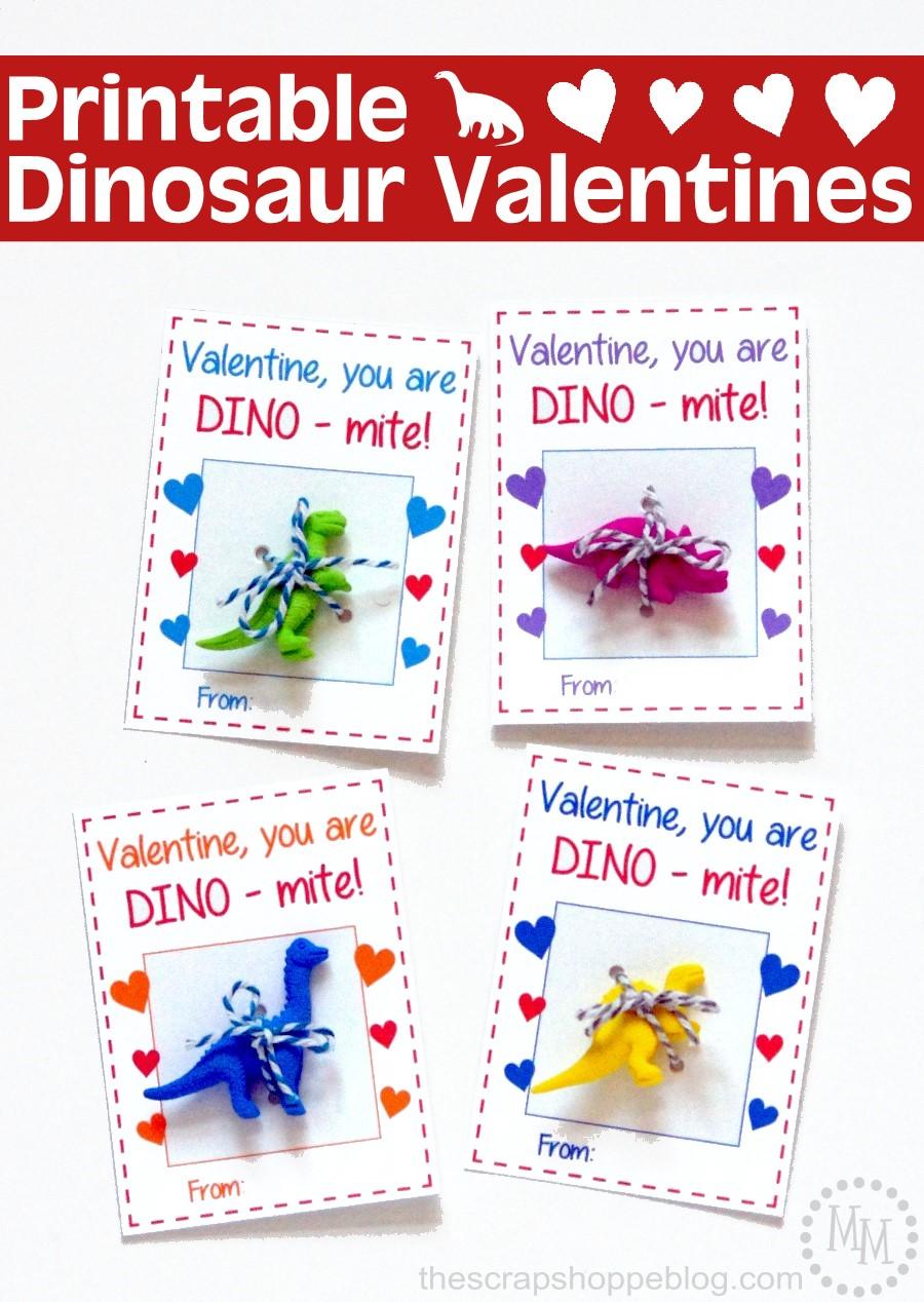 printable dinosaur valentines  the scrap shoppe