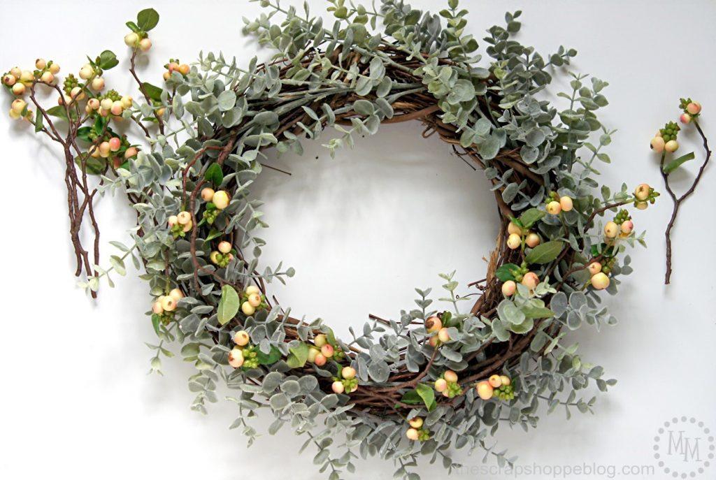 Turn a plain grapevine wreath into a stunning Easter egg wreath!