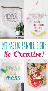 DIY Creative Fabric Banner Signs