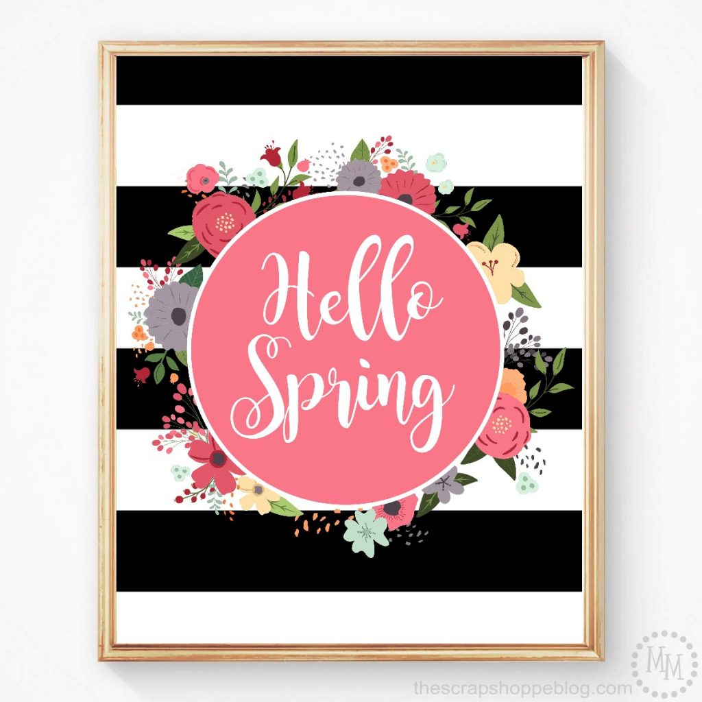 Help ring in spring with a pretty FREE printable!