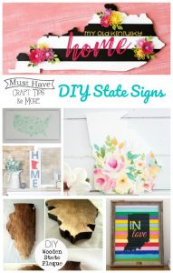 Make these DIY state signs to show your state pride in your home decor!
