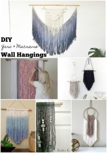 DIY Yarn & Macrame Wall Hangings