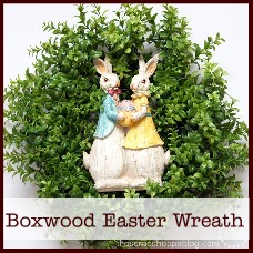 boxwood Easter wreath