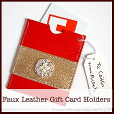 faux leather gift card holders