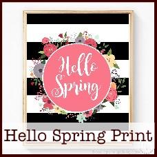 hello spring free print