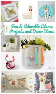 Fun and adorable llama projects and home decor items