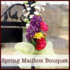 spring mailbox bouquet