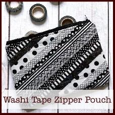 washi tape zipper pouch
