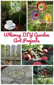 Dress up your garden with a whimsical DIY garden art project!