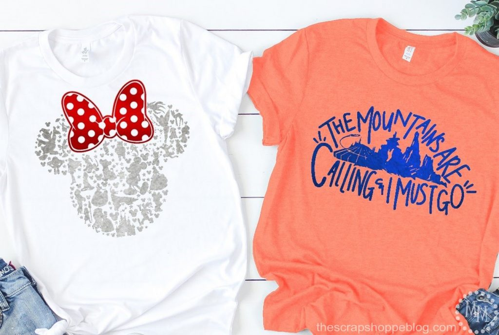 DIY your own Disney-themed t-shirts for even more fun at the parks!